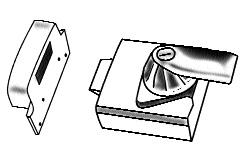Rim nightlatch with lockable internal handle